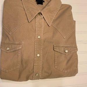 Gap Beige CorduroyShirt Size XL Women